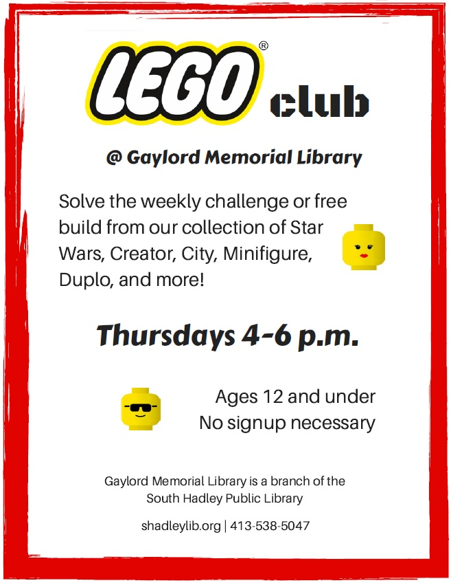 Lego Club – Gaylord Memorial Library