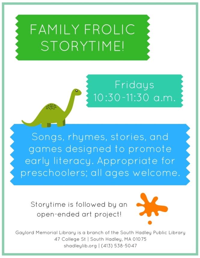 Family Frolic Storytime