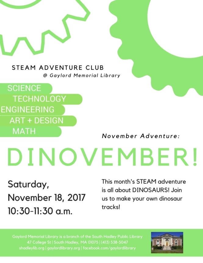 November STEAM Adventure Club
