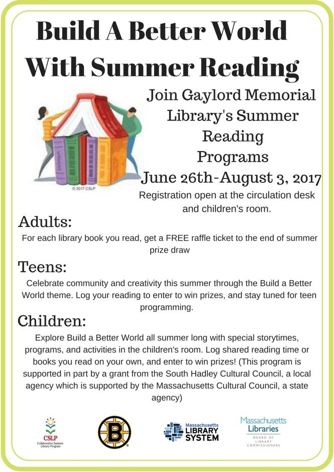 Summer reading flyer 2